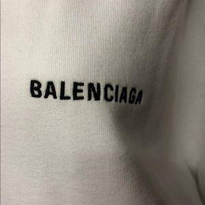 Worn once Balenciaga logo oversized sweatshirt